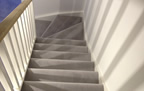 London - carpeted winding stairs